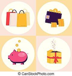 jogo, shopping, apartamento, bônus, desconto, isolado,...