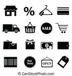 jogo, shopping, relatado, ícone