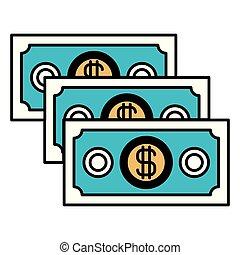 jogo, silueta, cor, dinheiro, contas, seções