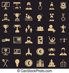 jogo, simples, companhia, estilo, ícones