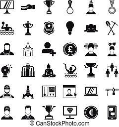 jogo, simples, estilo, estratégia, ícones