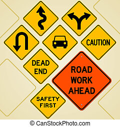 jogo, sinal estrada
