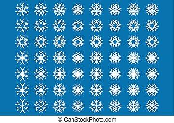 jogo, snowflakes, ícone