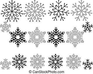 jogo, snowflakes, 16