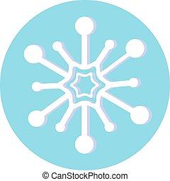 jogo, snowflakes, ilustração, vetorial, natal, design.