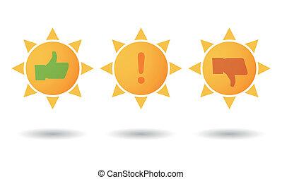 jogo sol, levantamento, ícone