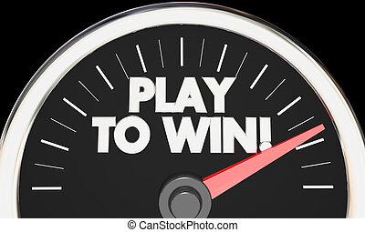 jogo, sucesso, ganhe, rapidamente, ilustração, desempenho, velocímetro, competição, 3d
