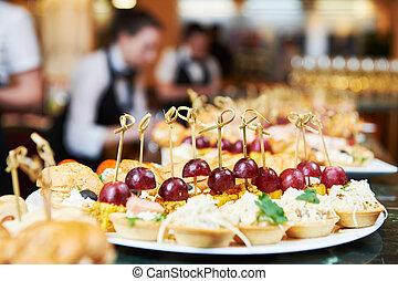 jogo, tabela, service., catering