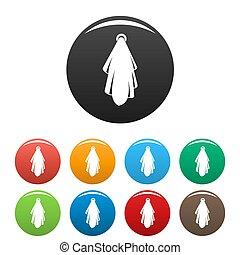 jogo, toalha, ícones, cor, após, banho