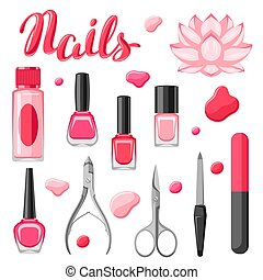 jogo, tools., manicure