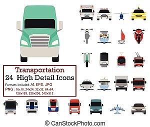 jogo, transporte, ícone