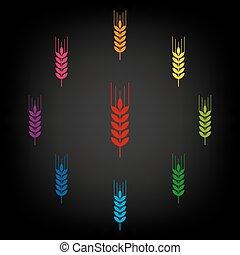 jogo, trigo, ícone