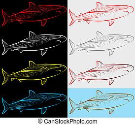 jogo, tubarão