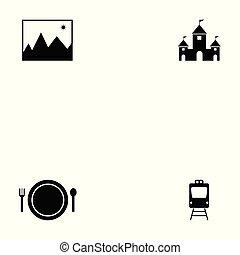 jogo, turismo, ícone