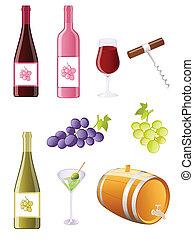 jogo, uvas vinho, ícone