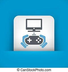 jogo, vídeo, ícone