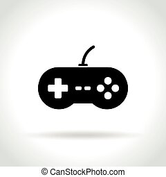 jogo, vídeo, fundo branco, ícone
