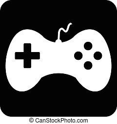 jogo, vídeo, icon.