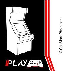 jogo, vídeo, jogo, fundo