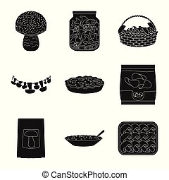 jogo, variedade, alimento, símbolo, objeto, web., isolado, ingrediente, logo., estoque