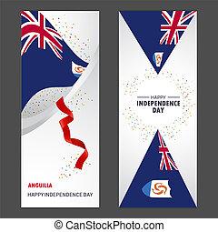 jogo, vertical, celebração, fundo, confetti, anguilla, bandeira, dia, independência, feliz