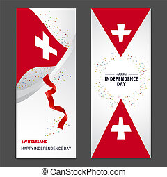jogo, vertical, suíça, fundo, confetti, celebração, bandeira, dia, independência, feliz