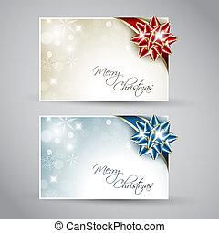 jogo, /, vetorial, ano, cartões, novo, natal