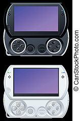 jogo video, console, portátil