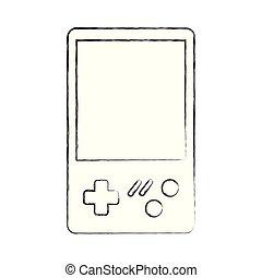 jogo video, console, retro, portátil