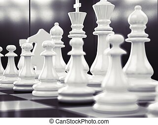 jogo, xadrez, negócio