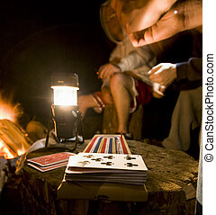 jogos, acampamento