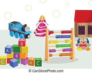 jogos, brinquedos