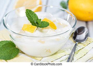 jogurt, citrón, domácí