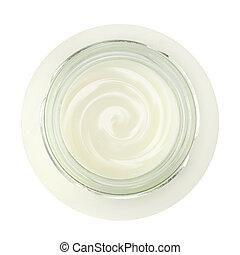 jogurt, opatřit vrškem prohlédnout, skřípat, čerstvý