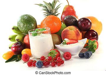 jogurt, owoc