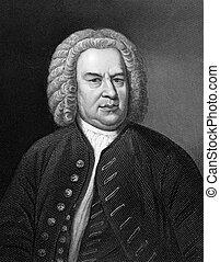 Johann Sebastian Bach (1685-1750) on engraving from 1857. ...