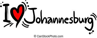 johannesburg, amore