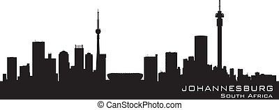 Johannesburg South Africa skyline Detailed vector silhouette...