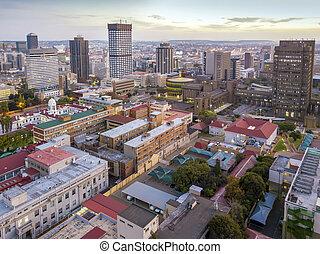 johannesburg, sur, céntrico, áfrica