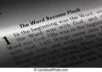 John 1:1 - The word became flesh. Popular New Testament...