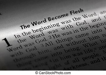 John 1:1 - The word became flesh. Popular New Testament passage