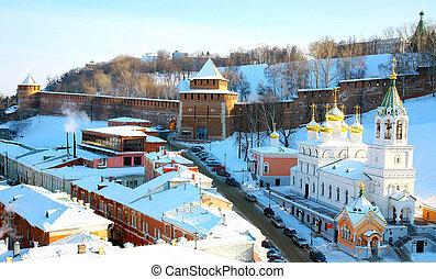 John Baptist Church and Kremlin Nizhny Novgorod Russia