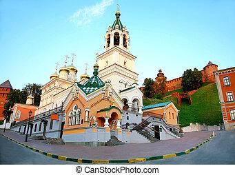 john, baptiste, église, et, kremlin, nizhny novgorod, russie