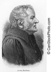 John Dalton - Picture from Meyers Lexicon books written in...