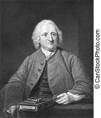John Dollond (1706-1761) on engraving from the 1800s....