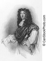 John Graham, 1st Viscount of Dundee (1648-1689) on engraving from the 1800s. Scottish soldier and nobleman, a Tory and an Episcopalian. Engraved by G.B. Shaw after a painting by Peter Lely and published by R.Cadell.