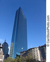 John Hancock Tower above Copley Plaza - Tallest building in...