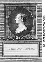 John Howard (1726-1790) on engraving from the 1700s. ...