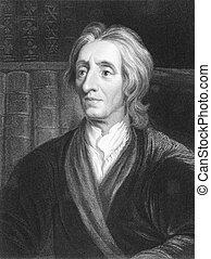 John Locke (1632-1704) on engraving from the 1800s. English...