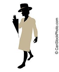 John of Peter Pan Silhouette Illustration - John of Peter...